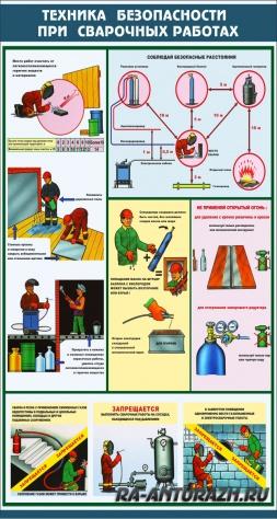 Техника безопасности при сварочных работах - информационный стенд